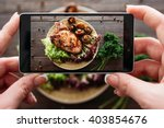Food Photography Of Baked Pork...