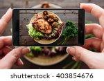 food photography of baked pork... | Shutterstock . vector #403854676