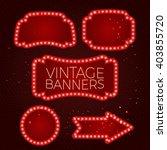vintage lighting banner vector... | Shutterstock .eps vector #403855720