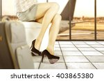 background of airport and sofa... | Shutterstock . vector #403865380