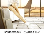 background of airport and... | Shutterstock . vector #403865410