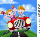 a cartoon man and woman having... | Shutterstock .eps vector #403875040