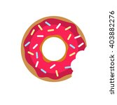 vector donut with pink cream... | Shutterstock .eps vector #403882276