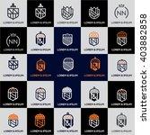 luxury heraldic vector logo...   Shutterstock .eps vector #403882858