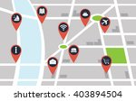 vector city map with red pin... | Shutterstock .eps vector #403894504