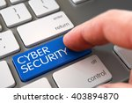 hand finger press cyber... | Shutterstock . vector #403894870