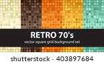 retro 70's. abstract square... | Shutterstock .eps vector #403897684
