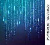 binary data on a blue... | Shutterstock .eps vector #403898500