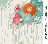 Stock vector retro flower background eps vector 403898668
