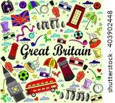 great britain line art design... | Shutterstock . vector #403902448