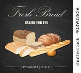 vector decorative fresh bread... | Shutterstock .eps vector #403902826