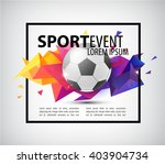 abstract soccer football poster ... | Shutterstock .eps vector #403904734