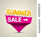 vector hot summer sale sticker .... | Shutterstock .eps vector #403908520
