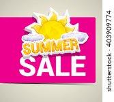 vector hot summer sale sticker .... | Shutterstock .eps vector #403909774
