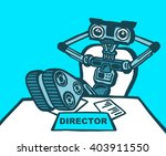 illustration of robot sitting... | Shutterstock . vector #403911550
