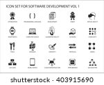 software development icon set.... | Shutterstock .eps vector #403915690