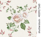 watercolor floral seamless... | Shutterstock . vector #403917160