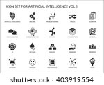 vector icon set for artificial...