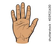 hand raised palm toward the... | Shutterstock .eps vector #403921630