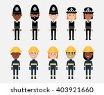 illustrations of occupations in ... | Shutterstock .eps vector #403921660