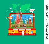concept of travel to spain or... | Shutterstock .eps vector #403928086