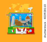 concept of travel to italy or... | Shutterstock .eps vector #403928110