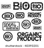 black bio stamps | Shutterstock .eps vector #40393201