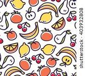 seamless fruit pattern vector | Shutterstock .eps vector #403932808