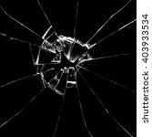 broken glass on black...   Shutterstock . vector #403933534