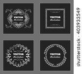 white retro vintage insignias...   Shutterstock .eps vector #403933549