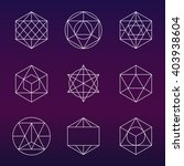 sacred geometry vector set.... | Shutterstock .eps vector #403938604