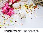 beautiful easter background... | Shutterstock . vector #403940578