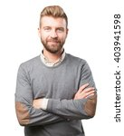 blond man. happy expression | Shutterstock . vector #403941598