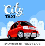 vector illustration of red taxi ... | Shutterstock .eps vector #403941778