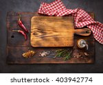 cutting boards and spice for... | Shutterstock . vector #403942774