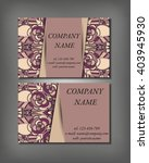 set of business card template ... | Shutterstock .eps vector #403945930