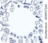 set of doodle pen drawn.... | Shutterstock .eps vector #403947160