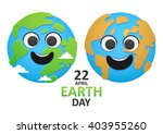 two of the planet earth in the... | Shutterstock .eps vector #403955260