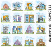 houses. flat vector... | Shutterstock .eps vector #403957588