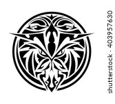 hawk tribal tattoo | Shutterstock .eps vector #403957630
