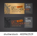 gift voucher gold card and back ... | Shutterstock .eps vector #403962529