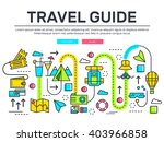 travel infographic icons items... | Shutterstock .eps vector #403966858
