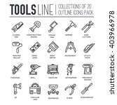 collection of working tools... | Shutterstock .eps vector #403966978