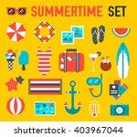 summer vecetion time background ... | Shutterstock .eps vector #403967044