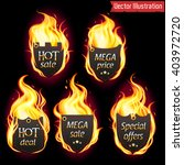 vector fire labels set. price...   Shutterstock .eps vector #403972720