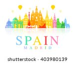 spain  madrid travel landmarks. ... | Shutterstock .eps vector #403980139