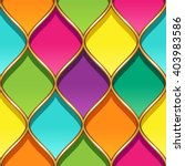 multicolor stained glass with... | Shutterstock .eps vector #403983586