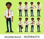 black man in a business style.... | Shutterstock .eps vector #403984474