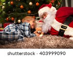Santa Claus And A Little Boy I...