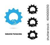 creative handshake logo and...